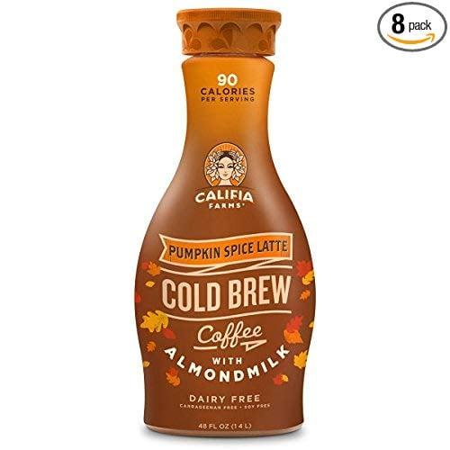 Califia Farms Seasonal Pumpkin Spice Latte Cold Brew Coffee With Almondmilk