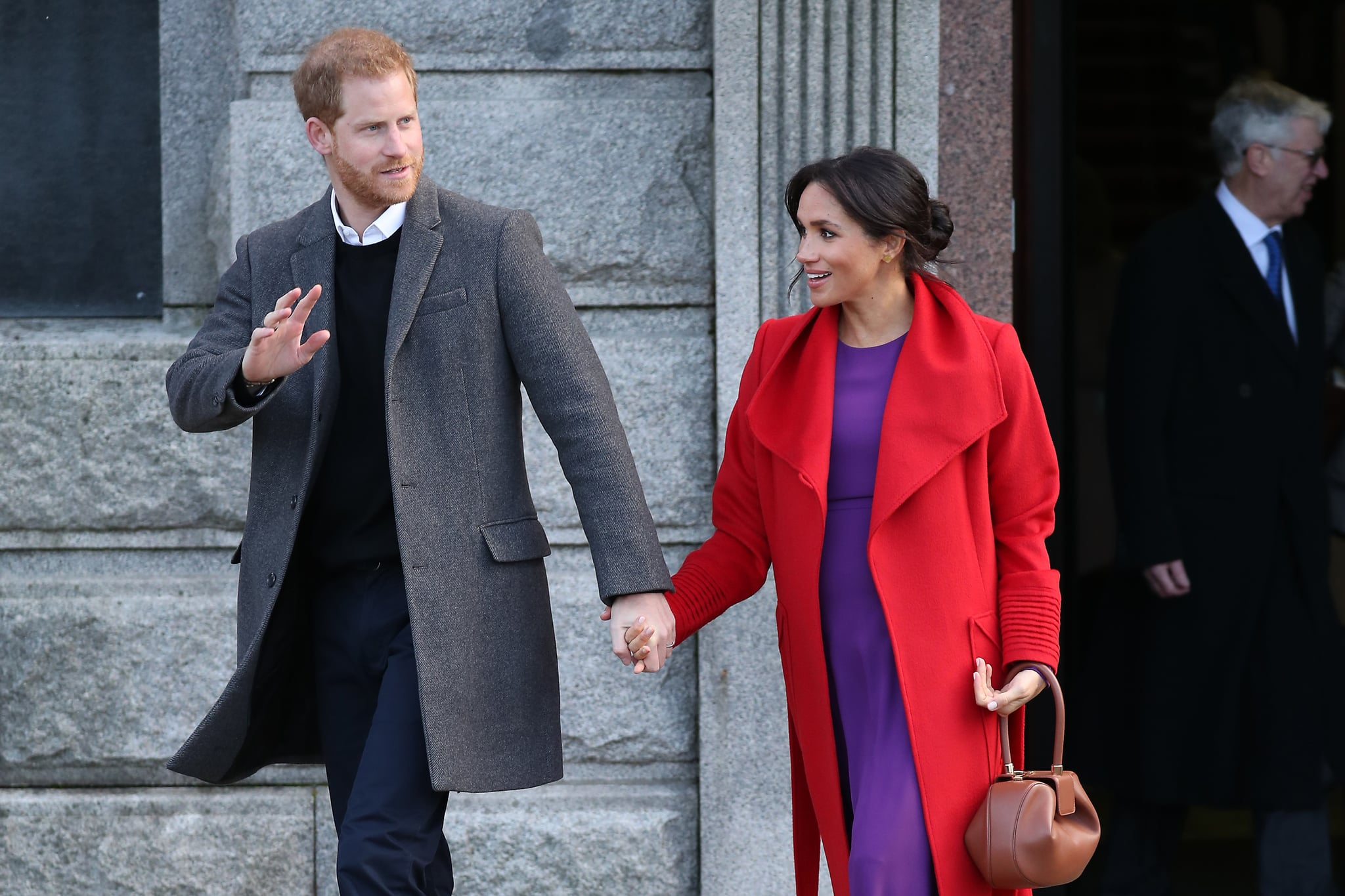 BIRKENHEAD, ENGLAND - JANUARY 14: Prince Harry, Duke of Sussex and Meghan, Duchess of Sussex visit Hamilton Square on January 14, 2019 in Birkenhead, United Kingdom. (Photo by Neil Mockford/GC Images)