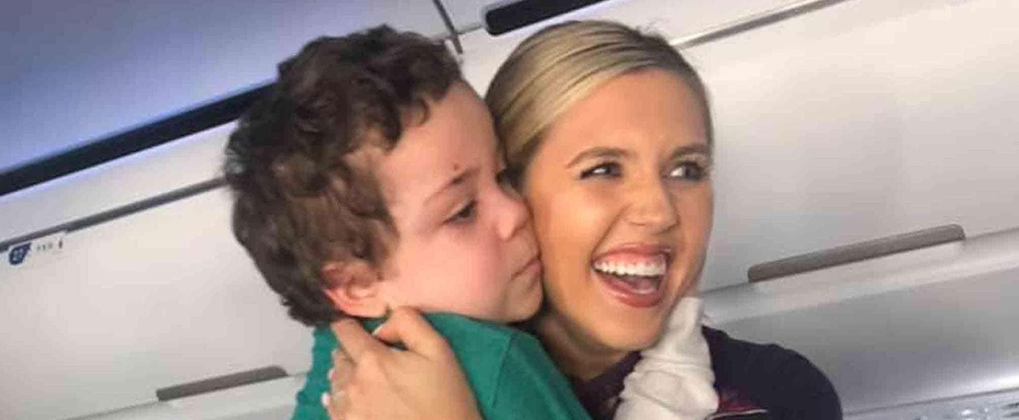 Flight Attendant Helps a Boy With Special Needs