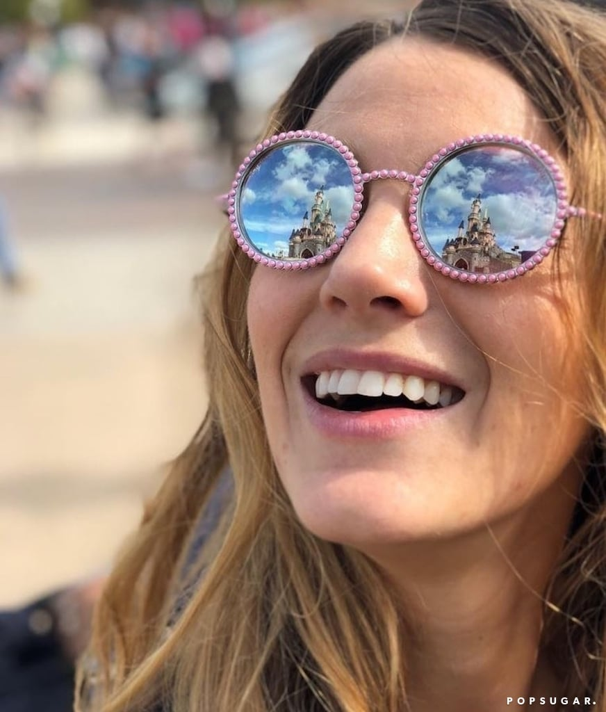 Blake Lively Pink Chanel Sunglasses in Disney 2018 ...