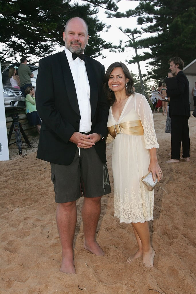 Barefoot with husband Peter at the Barefoot and Black Tie fundraiser at Palm Beach in Jan. 2006.