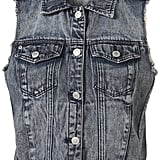 Add interest to your striped tees or simple maxi dresses with a little '90s nostalgia via a denim vest.  Topshop Moto Acid Sleeveless Jacket ($76)