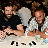 He looks adorable while joking with his onscreen brother, Clive Standen.