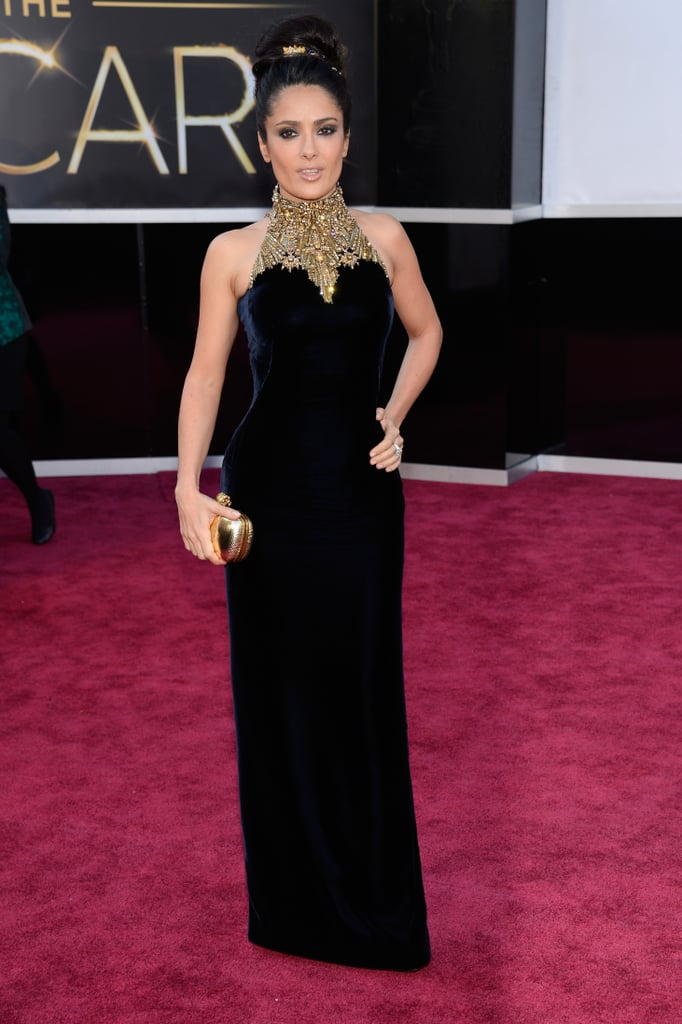 salma hayek at the 2013 academy awards best oscars