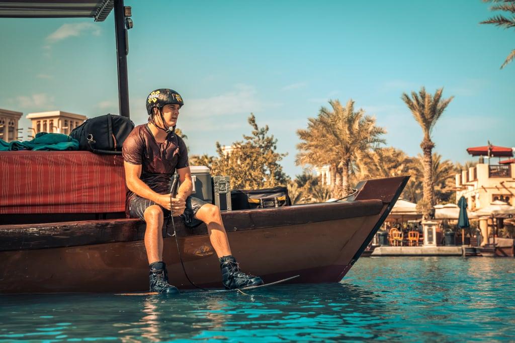 X Dubai Madinat Jumeirah Wakeboarding Stunt   February 2018