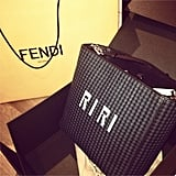 Rihanna's custom Fendi bag was the present that will never be regifted. Source: Instagram user badgirlriri