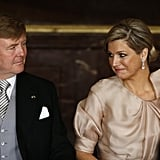 Willem-Alexander and his wife, Maxima, shared a sweet moment during his mother's abdication ceremony.