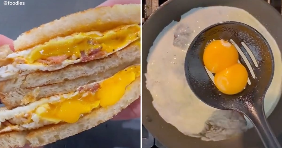 "This Cheesy ""Egg-velope"" Breakfast Hack on TikTok Is Like an Omelet Inside a Sandwich"