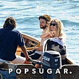 Tom Sturridge and Sienna Miller brought Marlowe Sturridge with them on a boat ride in Positano.