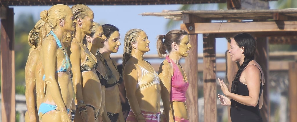 Drew Barrymore and Her BFFs Cover Themselves in Mud Before Jumping Into the Ocean in Mexico
