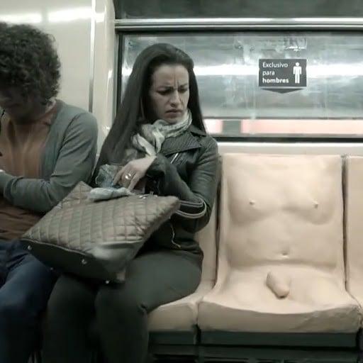 Penis Subway Seat (Video)