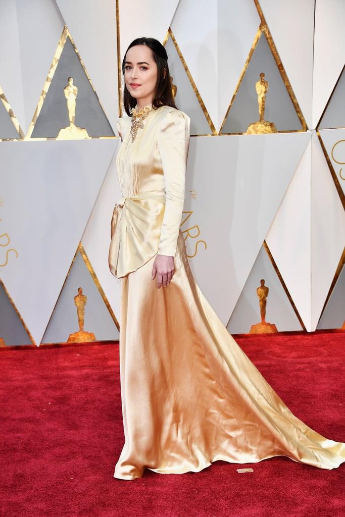 Dakota Johnson Wearing Gucci at the 2017 Oscars