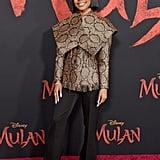 Marsai Martin Blunt Bob Haircut at the Mulan Premiere