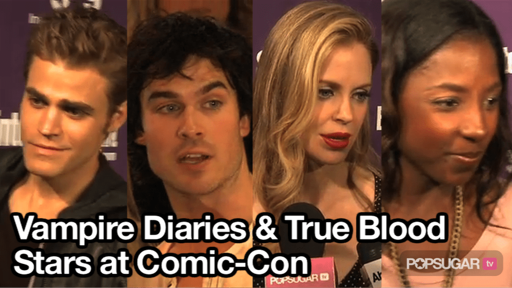 Video of The Vampire Diaries and True Blood Stars at Comic-Con
