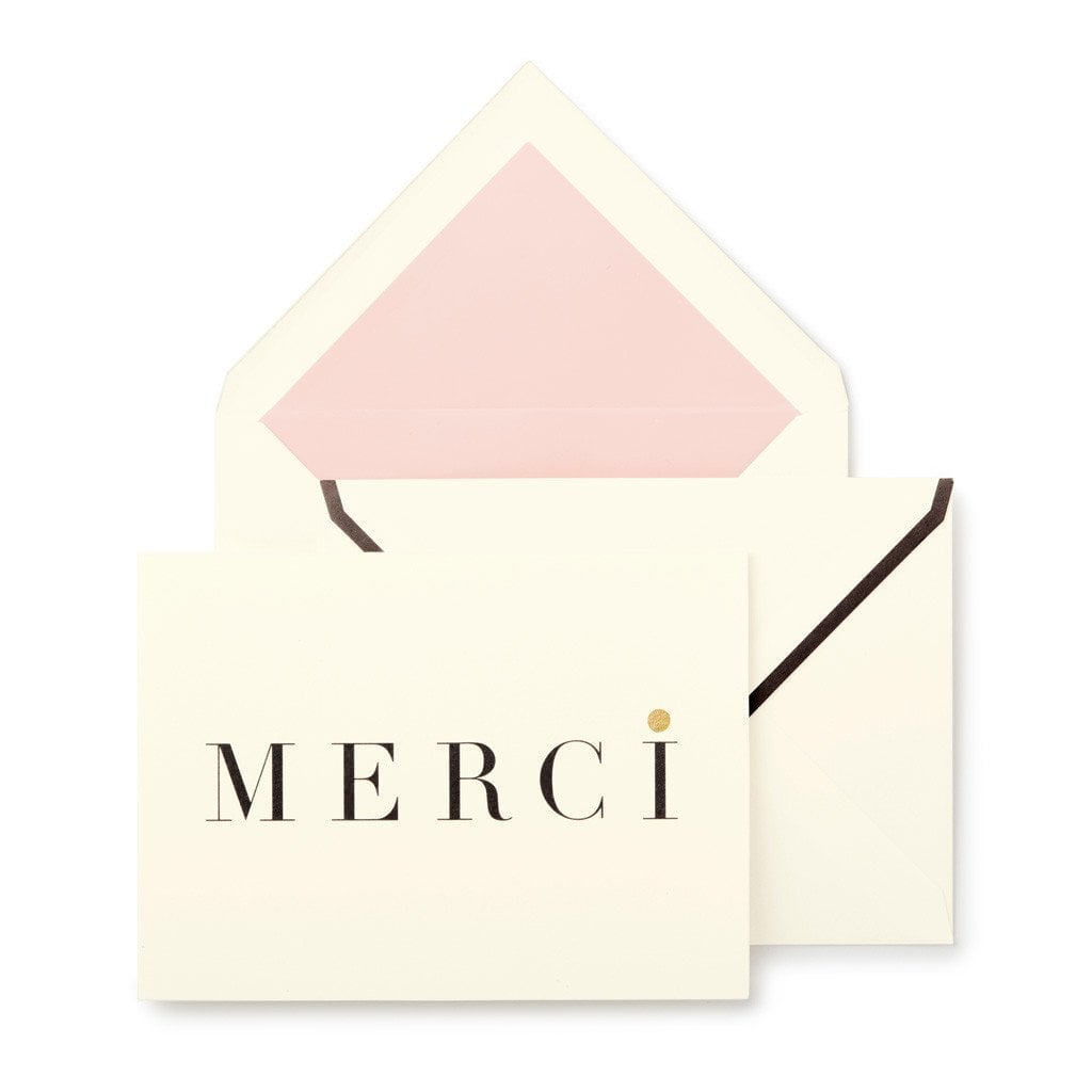 kate spade merci thank you card set cheap engagement gifts