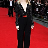 Emma Stone hit the red carpet in London.