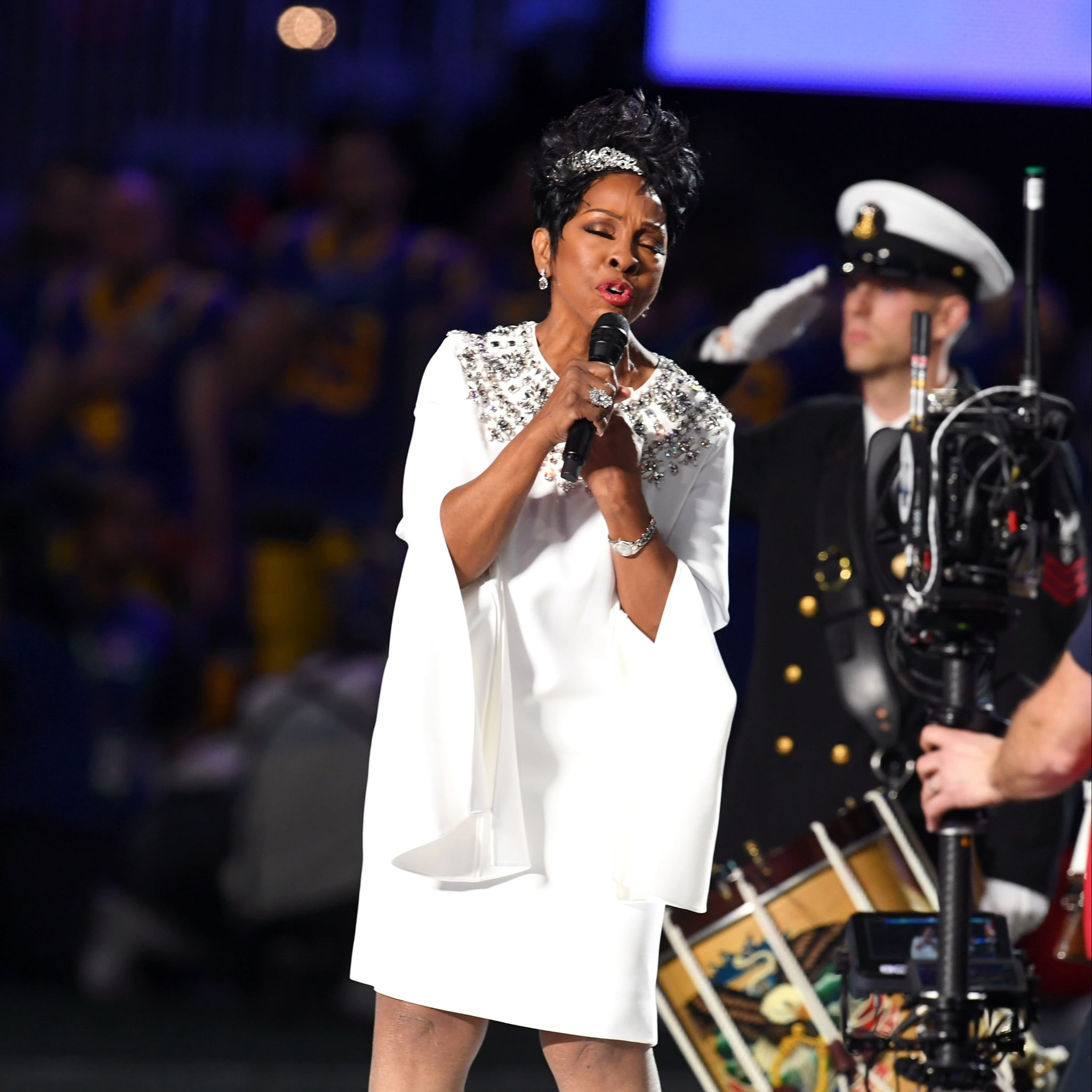 a848d7b94 Gladys Knight Sings the National Anthem at Super Bowl 2019 | POPSUGAR  Entertainment