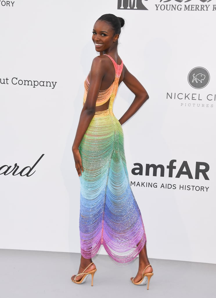 Leomie Anderson at the amfAR Cannes Gala