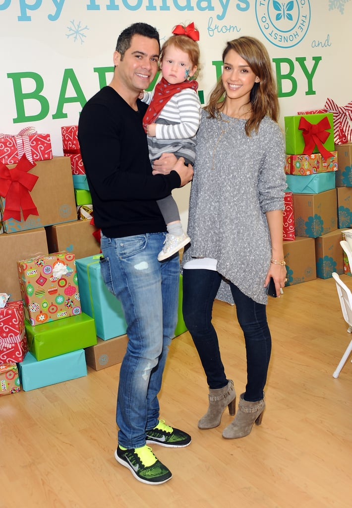 The couple posed with Haven at the Baby2Baby holiday party in 2013.