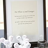 If your wedding is on the day of Halloween, this is a great way to make sure your younger guests are still getting in on the fun.