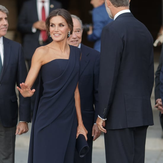 Queen Letizia's Navy Jumpsuit September 2018