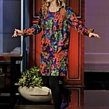 Drew Barrymore rocked a floral dress.