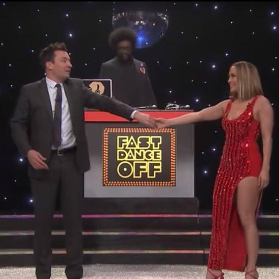 Jimmy Fallon and Jennifer Lopez in Fast Dance Off Video