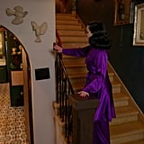 """""""I really loathe white walls,"""" said Dita, before gesturing to one of the few remaining ones in her home. She added, """"There are a few white walls left like this one here, because I'm going to cover this in feathers."""""""