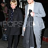 Jason Segel and Michelle Williams met up for dinner in SoHo in NYC.