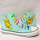 Pokémon Kids Graffiti Painted Canvas Shoes