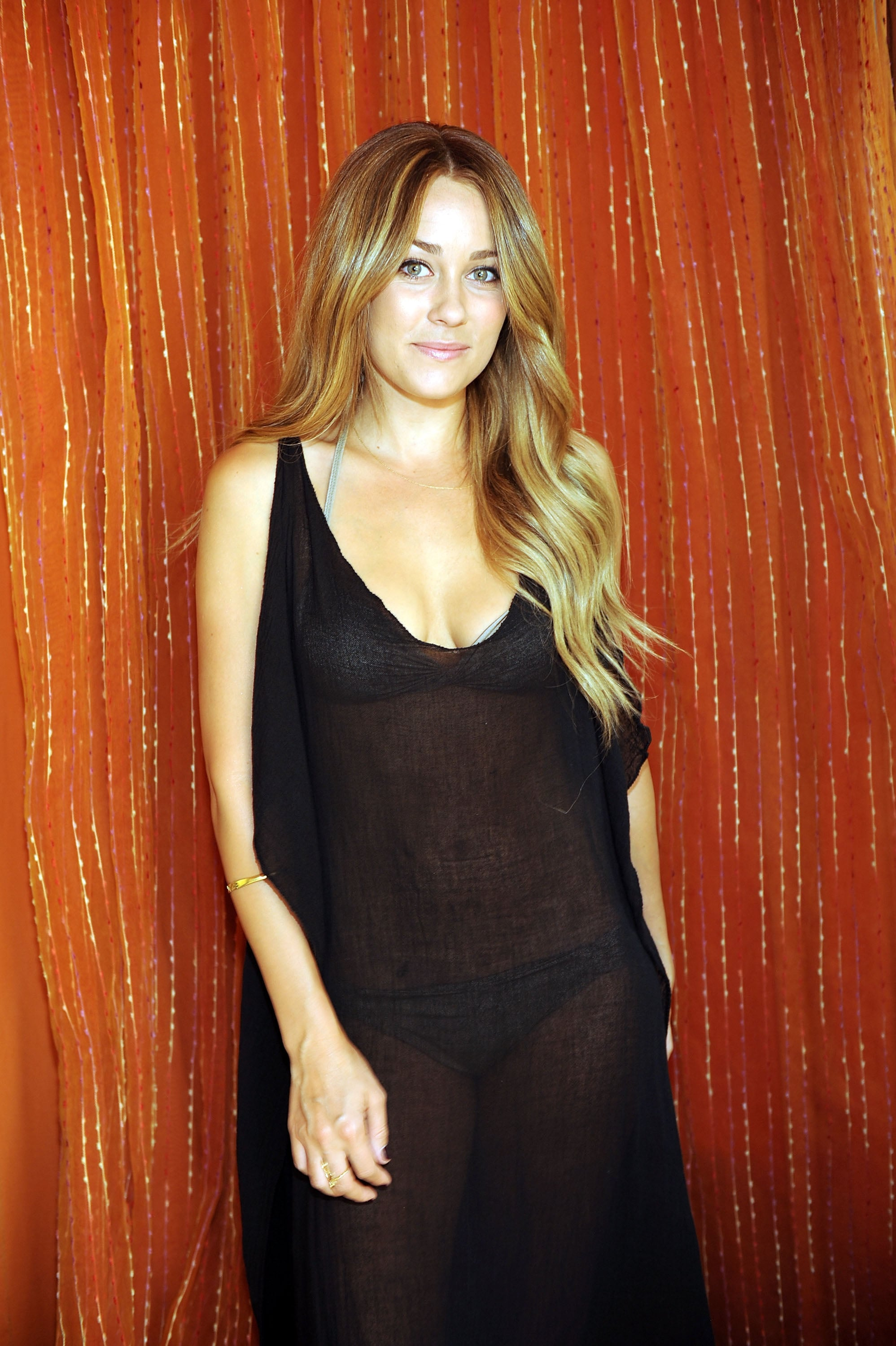 Photos Of Lauren Conrad Covering Her Bikini At Tao In Las