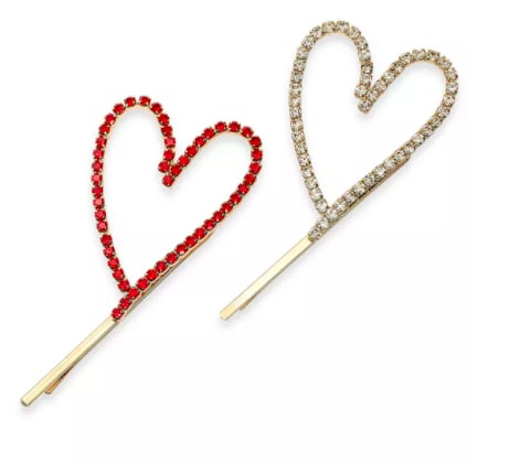 Open Heart Bobby Pin Set