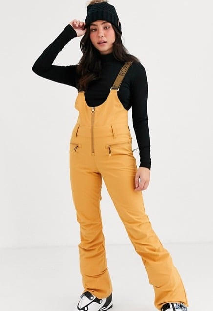 Roxy Snow Torah Brigth Summit Dungaree in Yellow