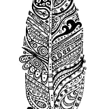 Get the coloring page: Feather