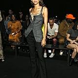 Zendaya at the Vera Wang New York Fashion Week Show