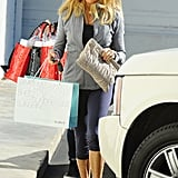 Goldie Hawn went shopping in LA on Saturday.