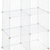 AmazonBasics 6 Cube Grid Wire Storage Shelves
