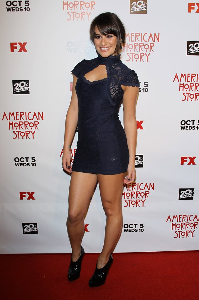 For the American Horror Story premiere in 2011, Lea wore a Gothic-inspired cutout mini from ASOS.