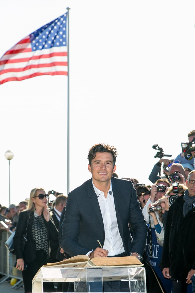 Orlando Bloom Makes a Handsome Appearance in France