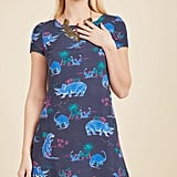 Always On the Way Easy Fit Dress in Dinosaur in 2X