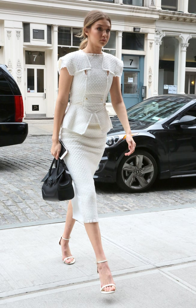 gigi hadid dressing like carrie bradshaw  popsugar fashion