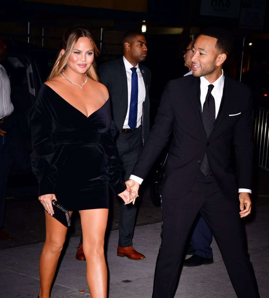 "Chrissy Teigen and John Legend certainly make one good-looking couple. On Wednesday, the pair took our breath away as they attended the 2018 WSJ Magazine Innovator Awards in NYC. While John looked dapper in his black suit, our jaws practically hit the floor when we saw Chrissy. The mother of two looked absolutely stunning as she walked the red carpet in a little black dress. Even John couldn't keep his eyes off of his wife as they walked inside the event. Gosh, we love these two! See even more of their gorgeous date night ahead.       Related:                                                                                                           Chrissy Teigen and John Legend Bring New Meaning to the Term ""Relationship Goals"""
