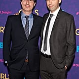 Alex Karpovsky and John Oliver were buddy-buddy.