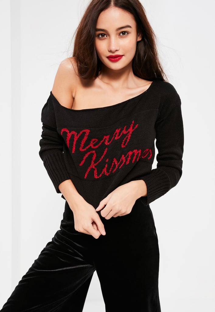 Missguided Merry Kissmas Cropped Sweater ($27)