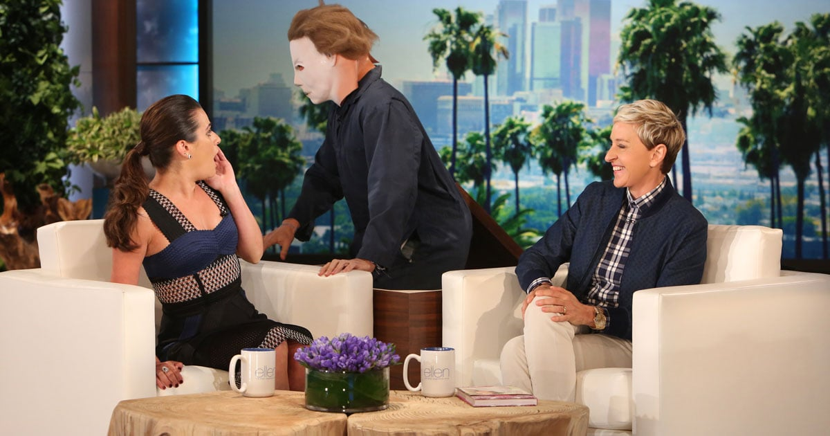 Lea michele scare on the ellen degeneres show popsugar celebrity - Ellen show videos ...