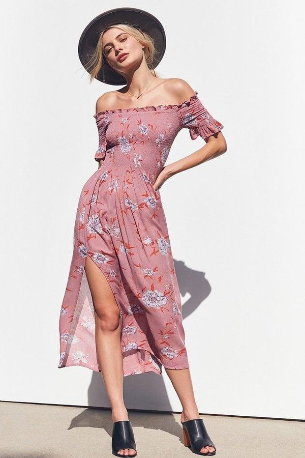 e65635bb9 Kimchi & Blue Off-the-Shoulder Smocked Dress | You'll Freak Out Over ...