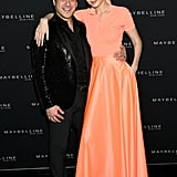 Gigi posed with Global President of Maybelline New York Leo Chavez.