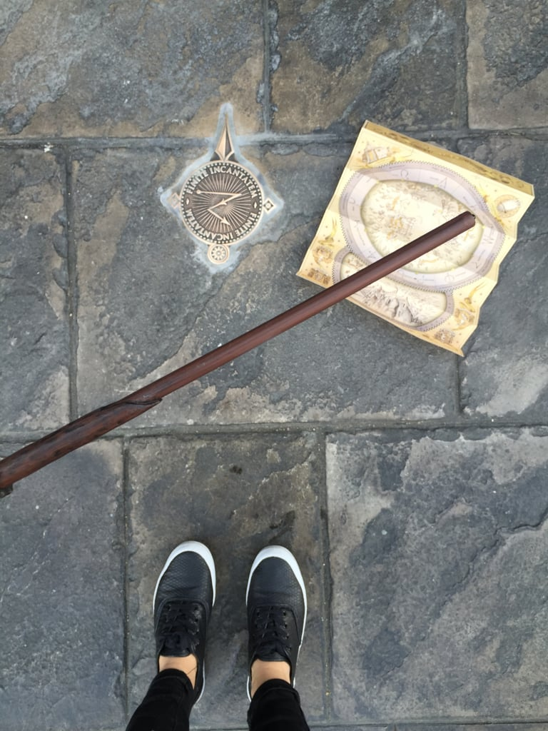 Interactive wands allow you to do spells all throughout the park.