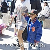 La La Anthony and her son Kiyan grabbed ice cream in NYC on Sunday.