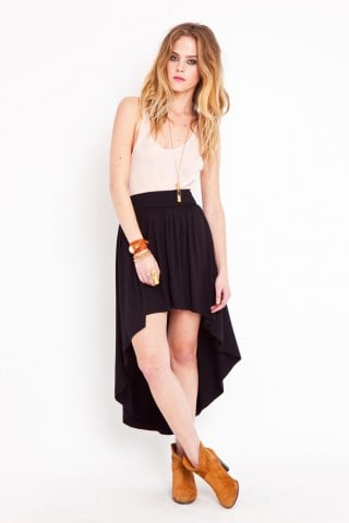 An Asymmetric Skirt to Show Some Leg!